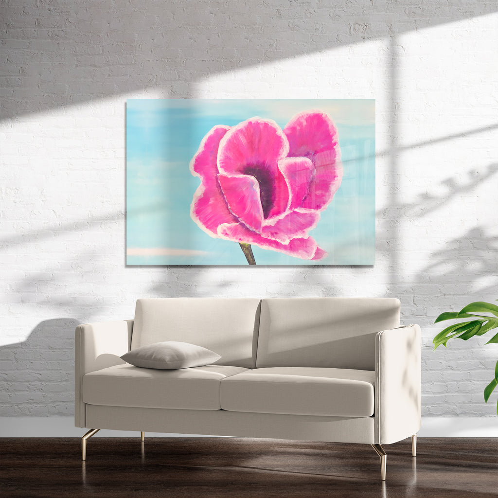 PINK PETALS Art on Acrylic By Sheila Olsen