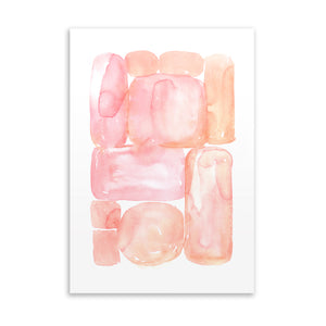 ABSTRACT SHAPES PEACH Art on Acrylic By Soosoostudios