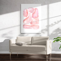 ABSTRACT SHAPES PINK Art on Acrylic By Soosoostudios