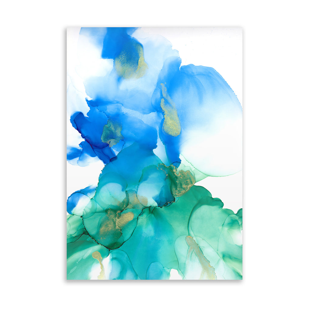 ABSTRACT FLOWER ALCOHOL INK l Art on Acrylic By Soosoostudios