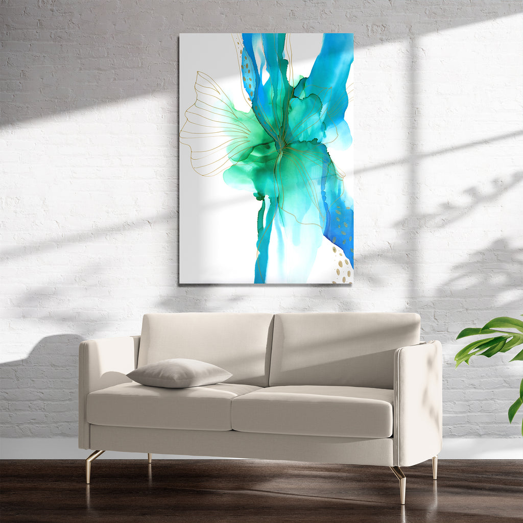 ABSTRACT FLOWER ALCOHOL INK ll Art on Acrylic By Soosoostudios
