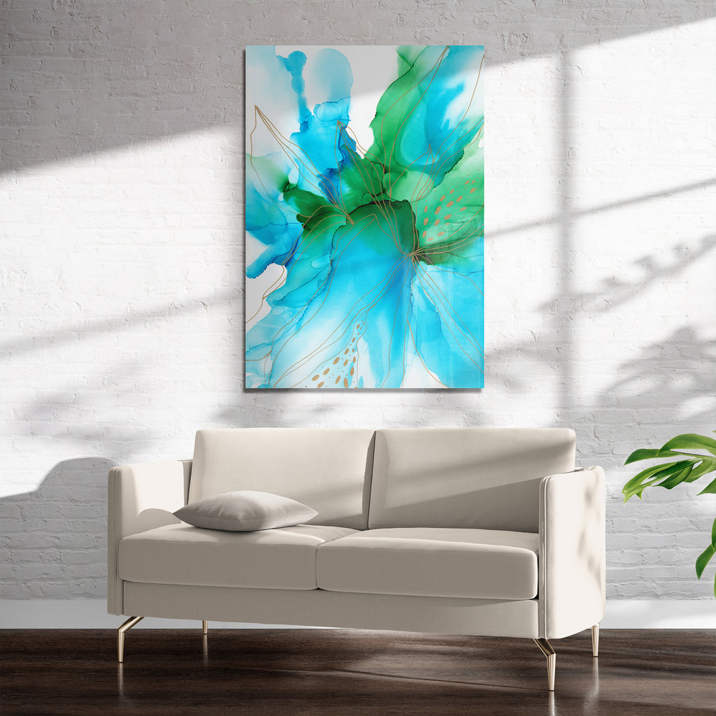 ABSTRACT FLOWER ALCOHOL INK V Art on Acrylic By Soosoostudios