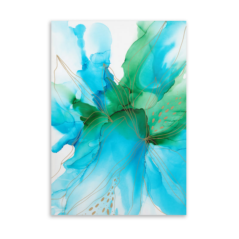 ABSTRACT FLOWER ALCOHOLINK V Art on Acrylic By Soosoostudios