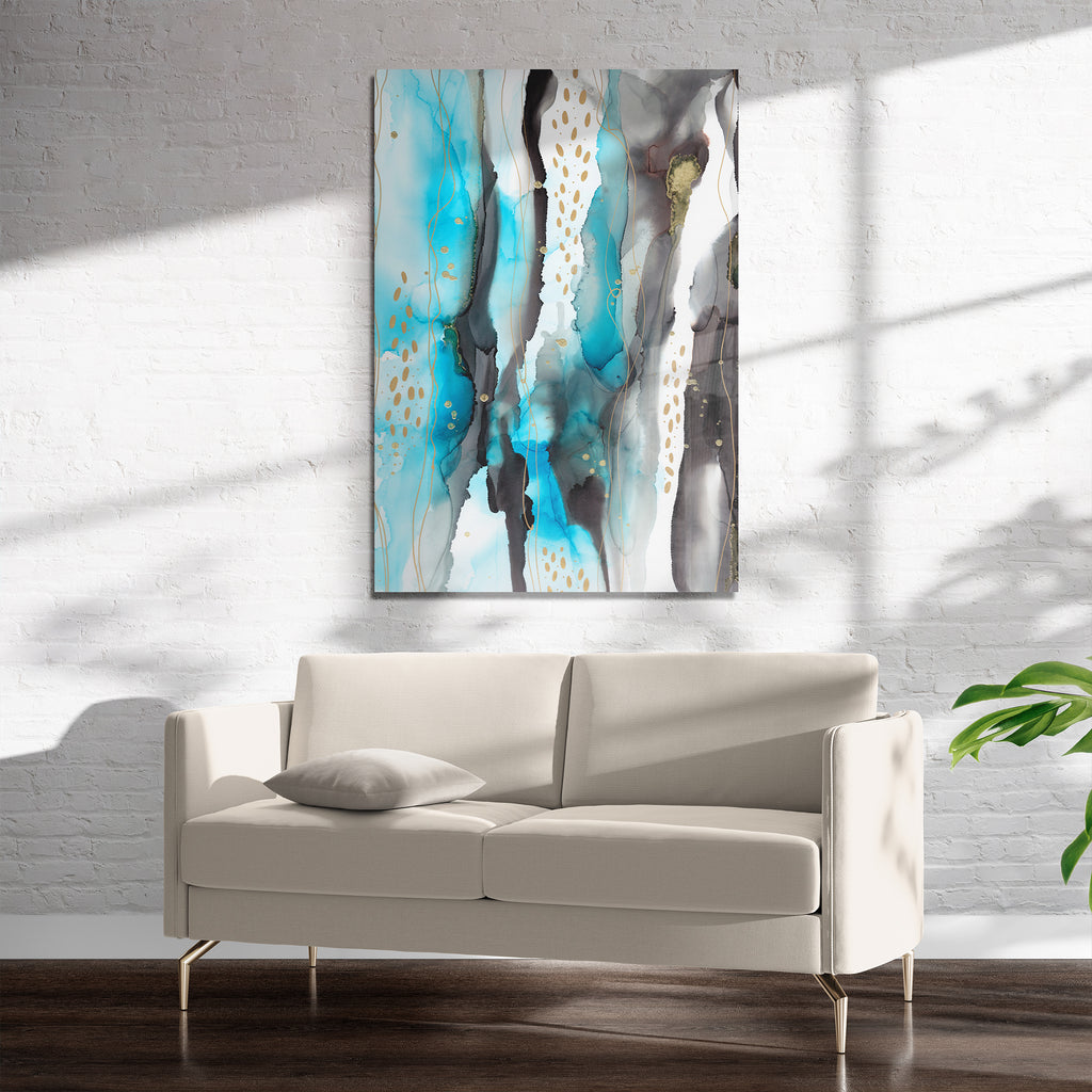 ABSTRACT LANDCAPE INK Art on Acrylic By Soosoostudios