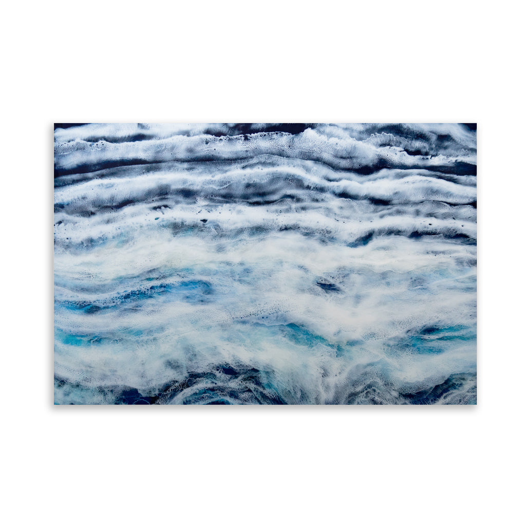 ARCTIC WAVES Art on Acrylic By Christina Twomey