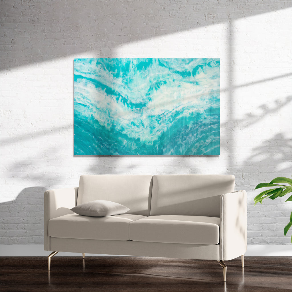 TEAL TIDES Art on Acrylic By Christina Twomey