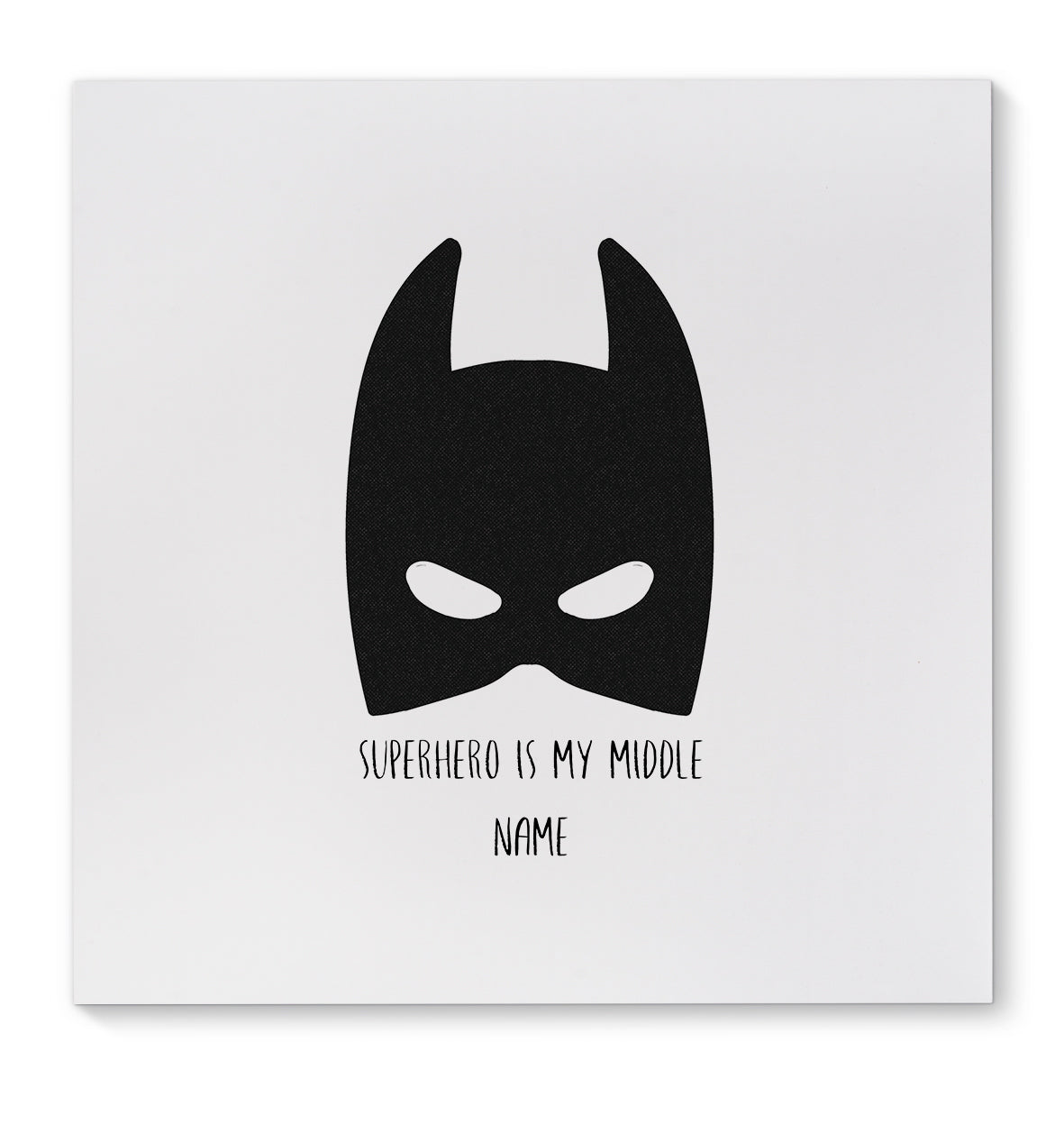SUPERHERO IS MY MIDDLE NAME Canvas Art By Terri Ellis