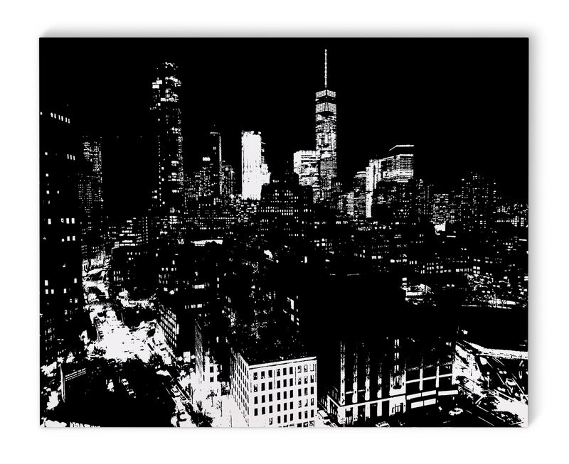 SKYLINE NYC AND FREEDOM TOWER Canvas Art By Fabrizio Musa