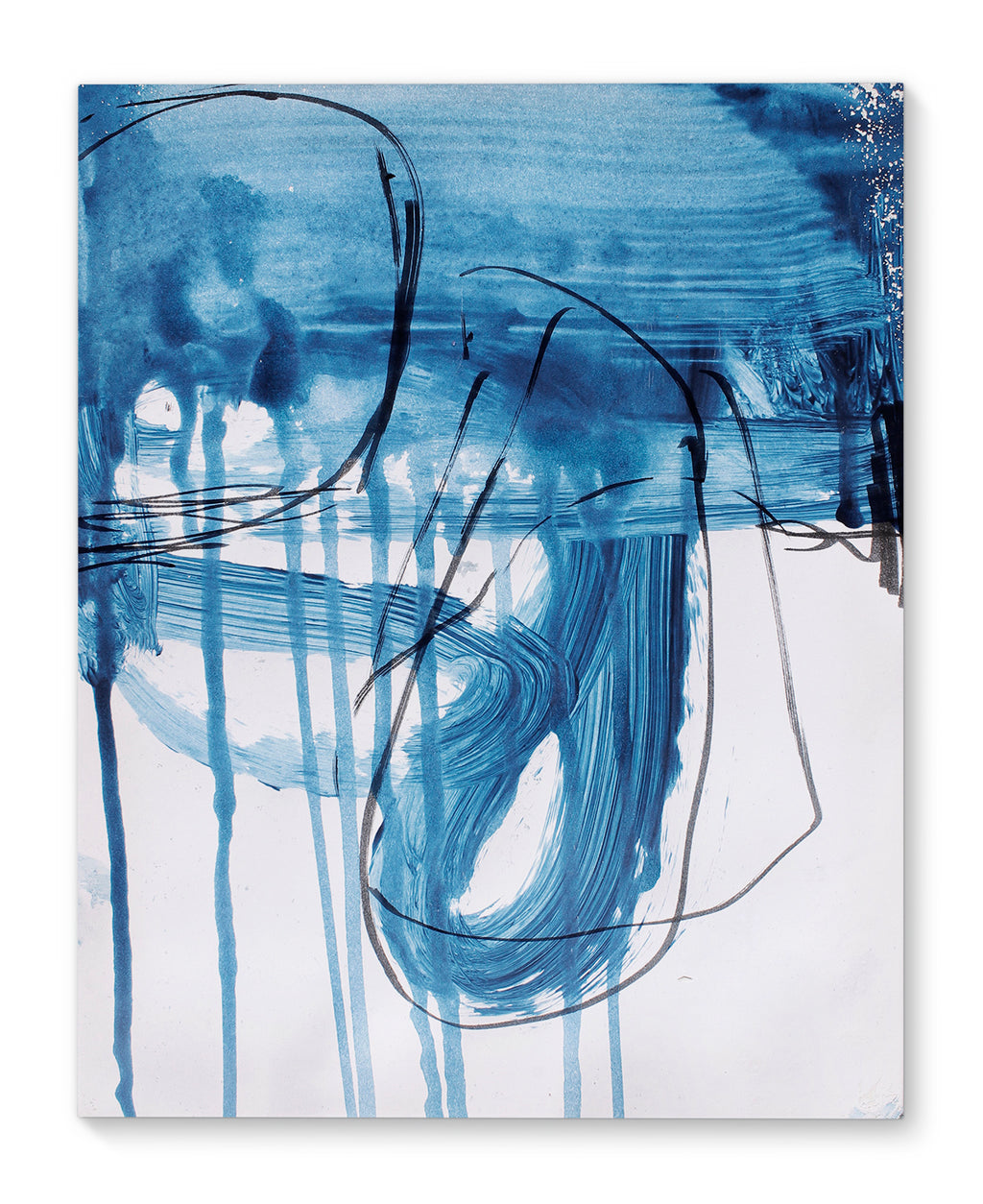 BLUE ABSTRACT FIVE Canvas Art By Jolina Anthony