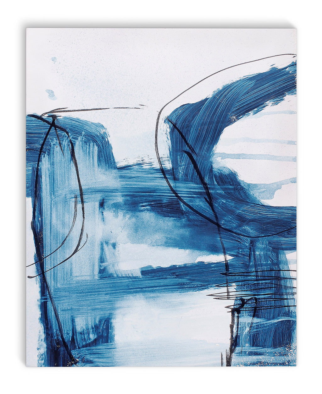 BLUE ABSTRACT SIX Canvas Art By Jolina Anthony