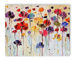 DANCING FLOWERS Canvas Art By Jolina Anthony