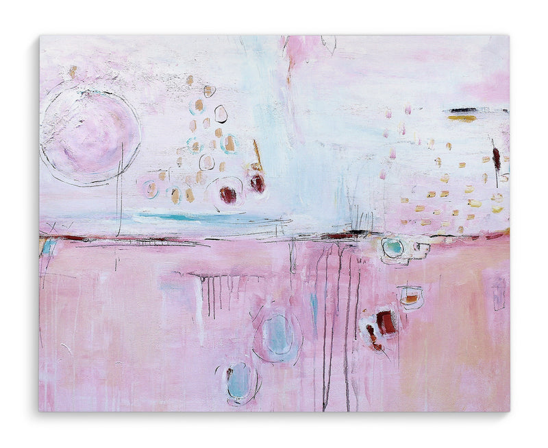PINK ABSTRACT Canvas Art By Jolina Anthony