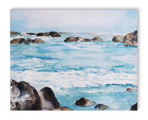 ROCKY WAVES Canvas Art By Jayne Conte