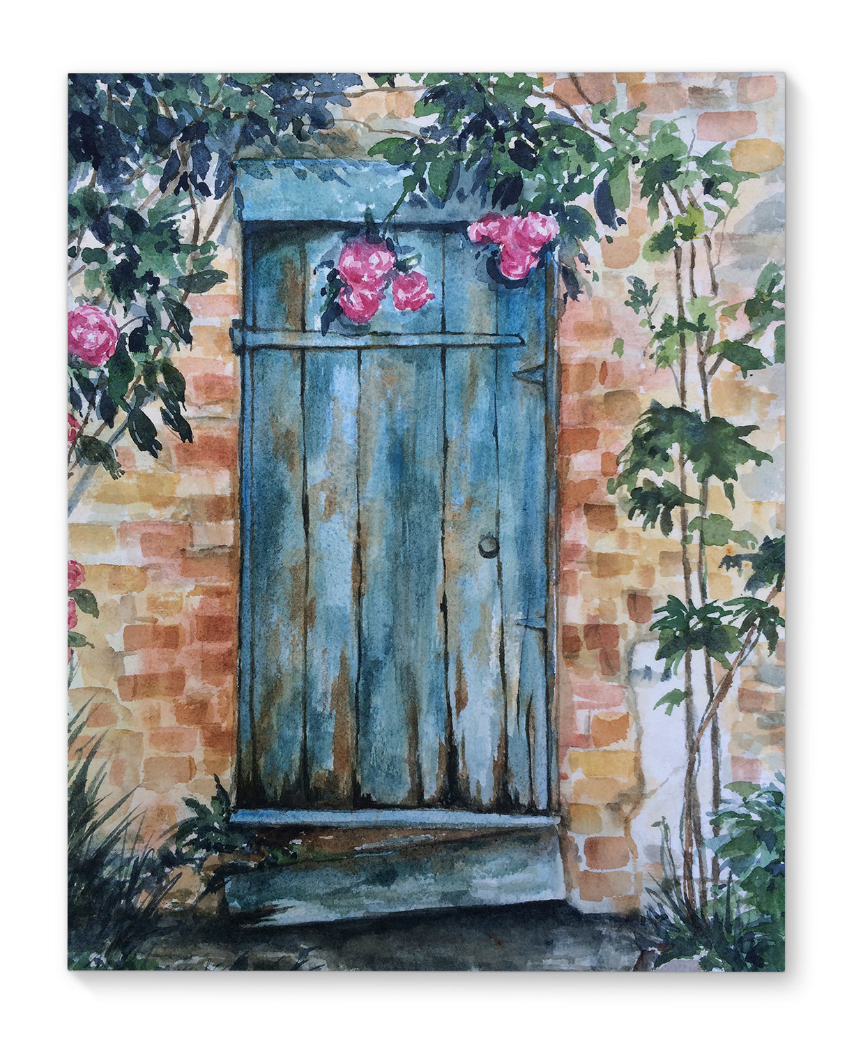 WOOD DOOR Canvas Art By Jayne Conte