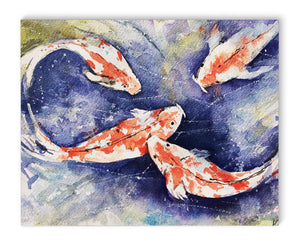 KOI Canvas Art By Jayne Conte