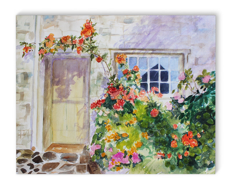 FLOWER ENTRY Canvas Art By Jayne Conte