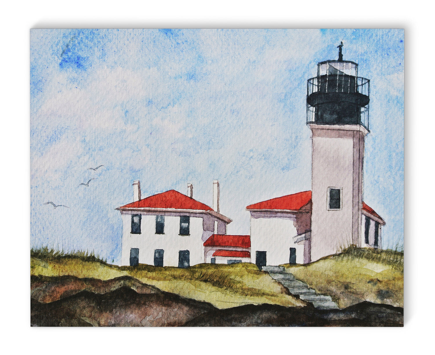 RI LIGHTHOUSE Canvas Art By Jayne Conte