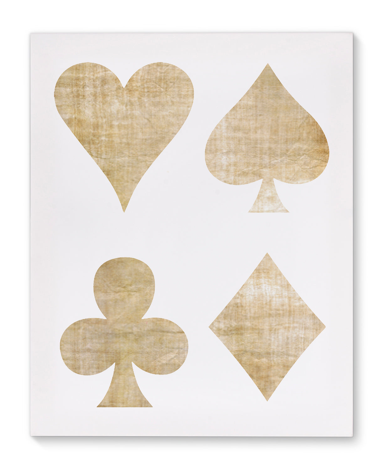 BEIGE PLAYING CARDS Canvas Art By Michelle Parascandolo