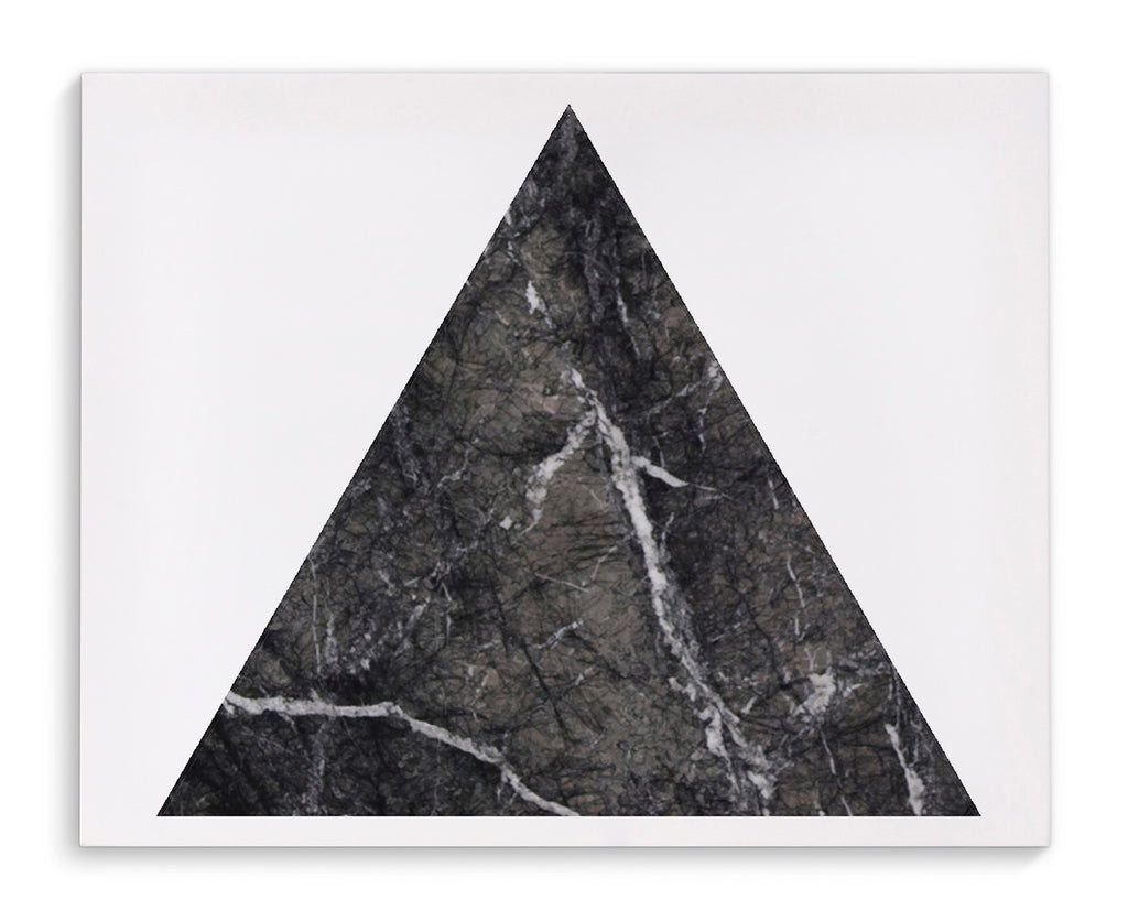 BLACK MARBLE TRIANGLE Canvas Art By Michelle Parascandolo