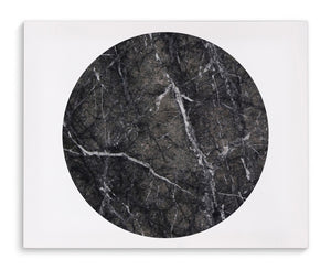 BLACK MARBLE CIRCLE Canvas Art By Michelle Parascandolo