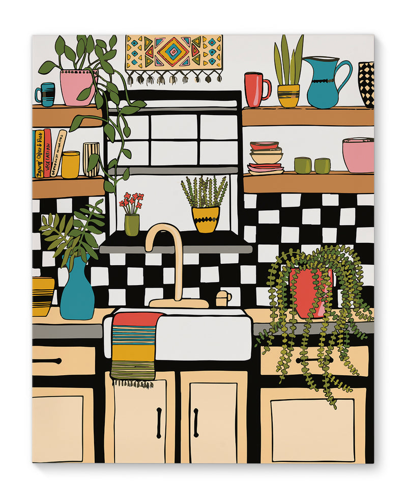 KITCHEN  Canvas Art By Michelle Parascandolo