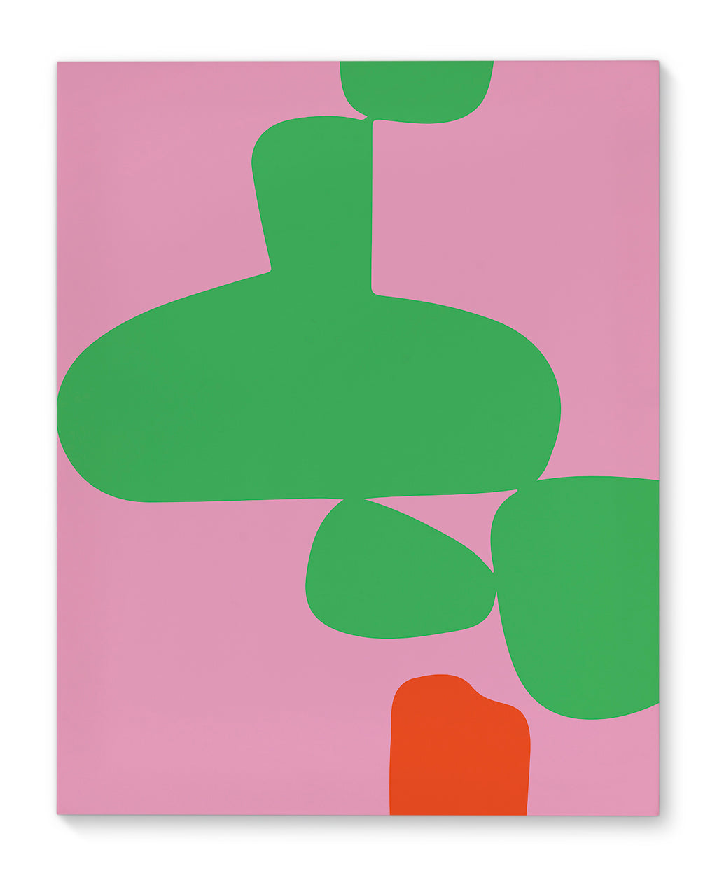 PINK AND GREEN ABSTRACT Canvas Art By Villa Capri
