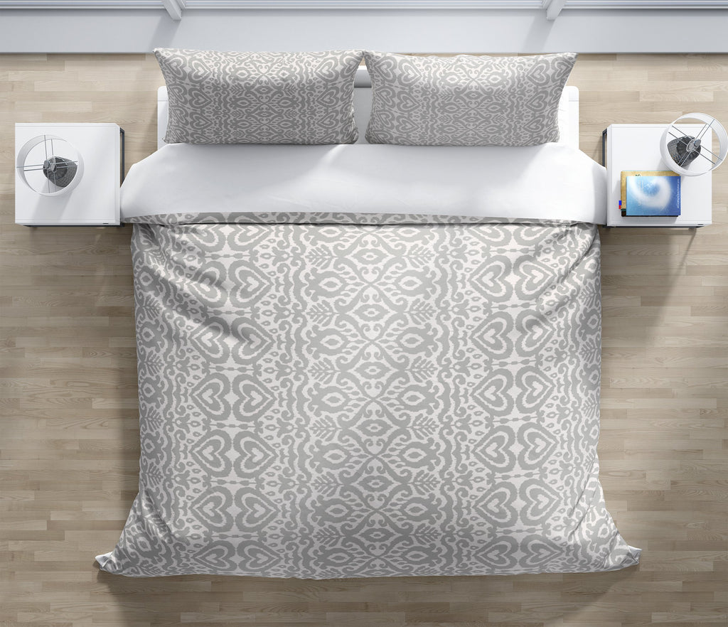 ALOMA GREY Duvet Cover Set By Kavka Designs