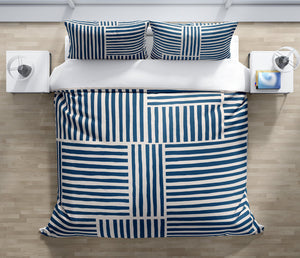 IDA NAVY Duvet Cover Set By Kavka Designs