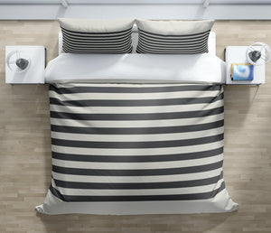 GRELLY IVORY & CHARCOAL Duvet Cover Set By Kavka Designs