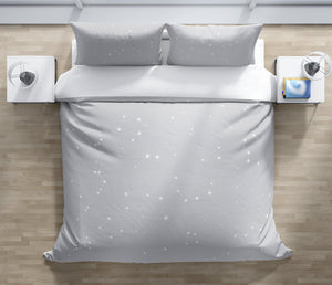 CELESTIAL GREY Duvet Cover Set By Marina Gutierrez