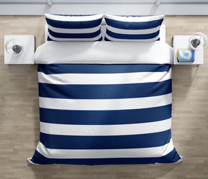 CENTERVILLE NAVY Duvet Cover Set By Terri Ellis
