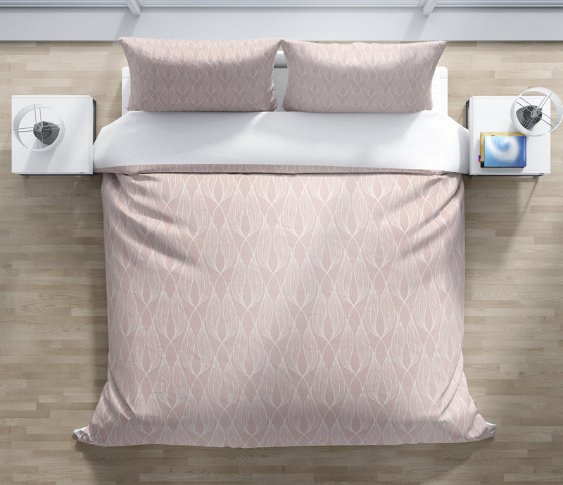 ALAINA PINK Duvet Cover Set By Terri Ellis