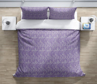 CLUSTER PURPLE Duvet Cover Set By Tiffany Wong