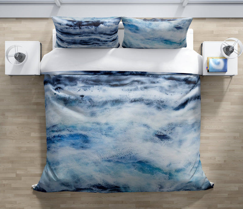 ARCTIC WAVES Duvet Cover Set By Christina Twomey