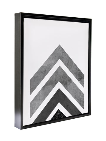 ARROW BLACK GREY Premium Framed Gallery Wrap By Honeytree Prints