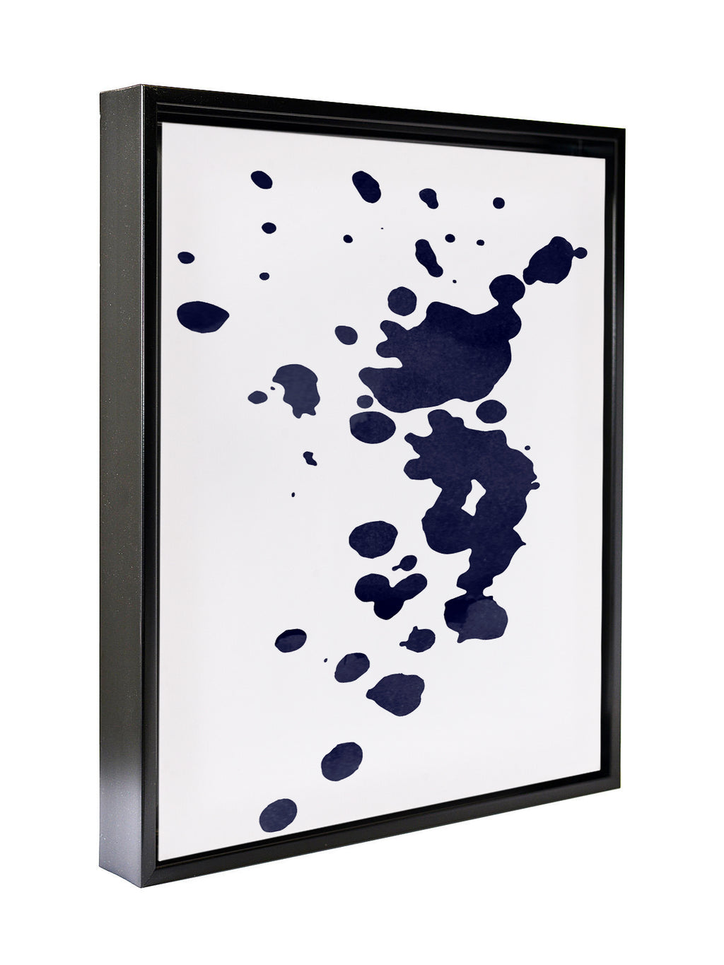 BLUE INK Premium Framed Gallery Wrap By Honeytree Prints