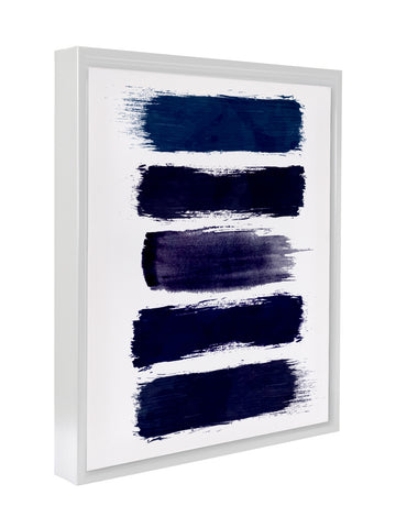 BLUE PAINT STRIPES Premium Framed Gallery Wrap By Honeytree Prints