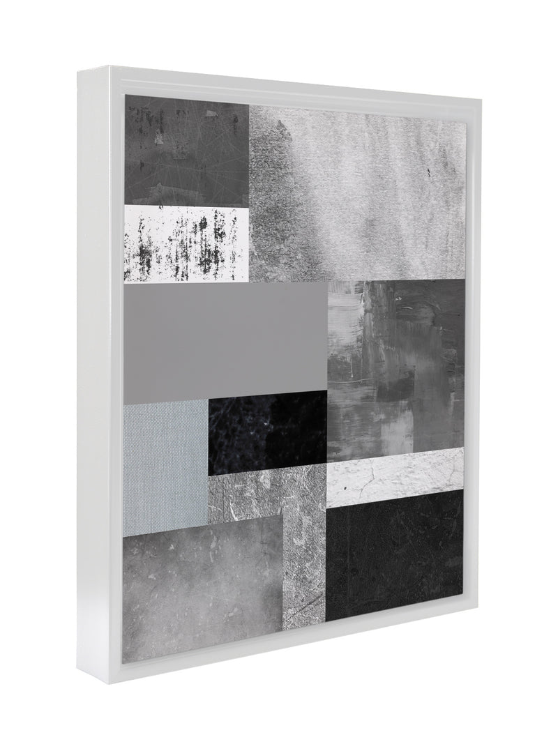 GREY ABSTRACT Premium Framed Gallery Wrap By Honeytree Prints