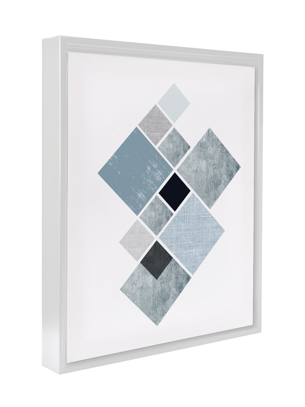 GREY SHAPES Premium Framed Gallery Wrap By Honeytree Prints