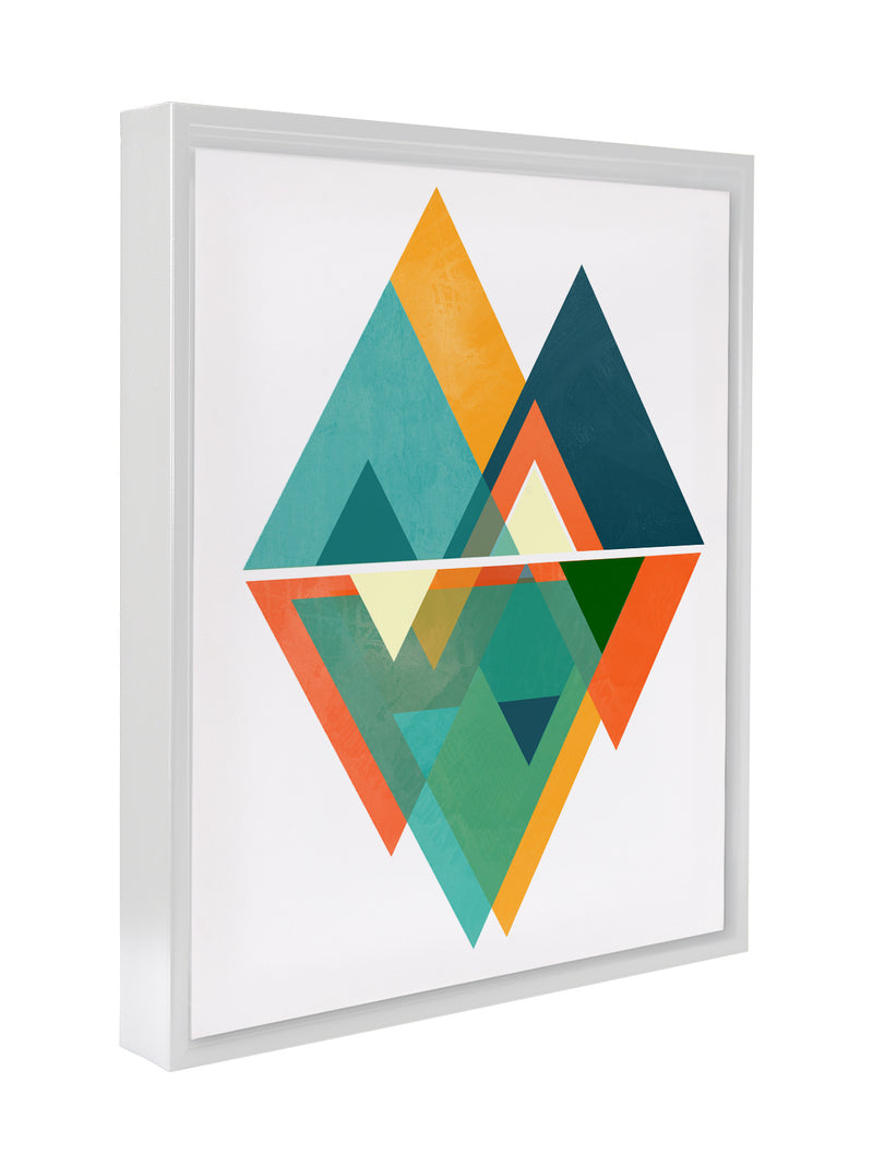 NEW TRIANGLES Premium Framed Gallery Wrap By Honeytree Prints