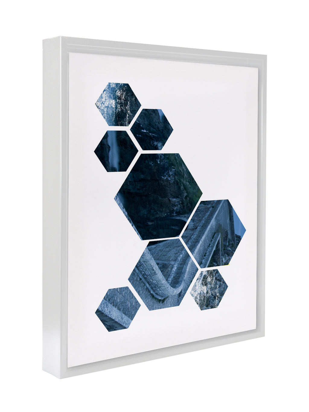 NORDIC SHAPES BLUE Premium Framed Gallery Wrap By Honeytree Prints