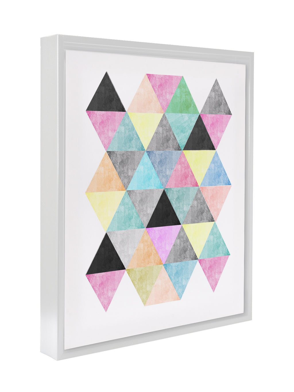 NORDIC TRIANGLES Premium Framed Gallery Wrap By Honeytree Prints