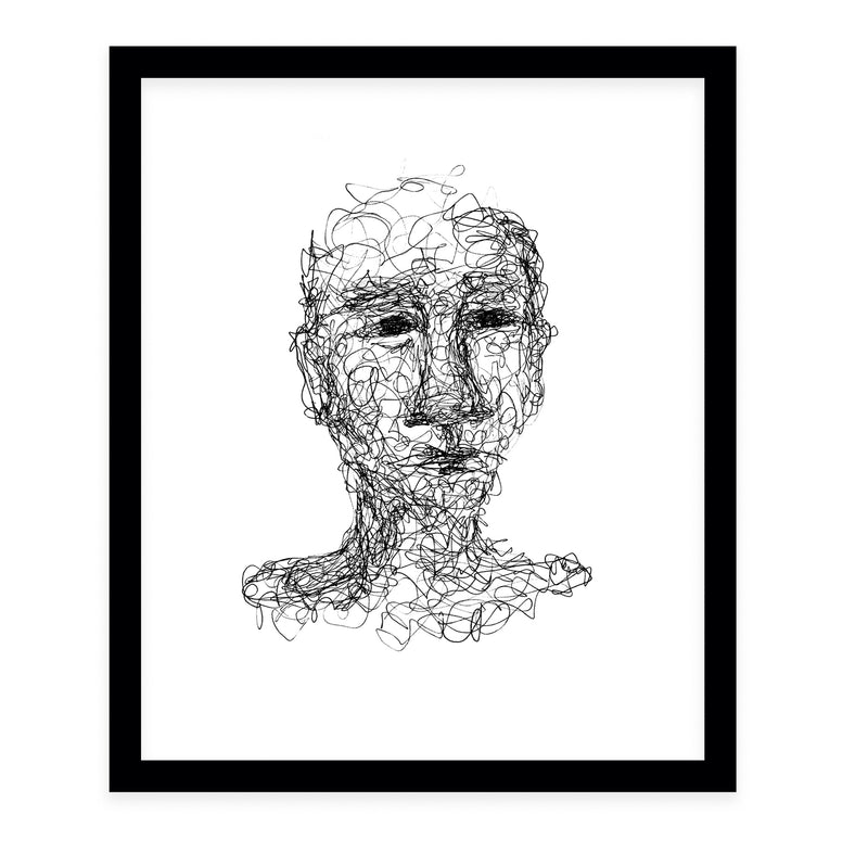 ABSTRACT THOUGHTS Framed Giclee Print by Danushka Abeygoda