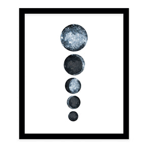 BLUE MOON PHASES Framed Giclee Print by Danushka Abeygoda