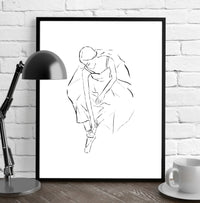 BALLERINA GIRL Framed Giclee Print by Terri Ellis