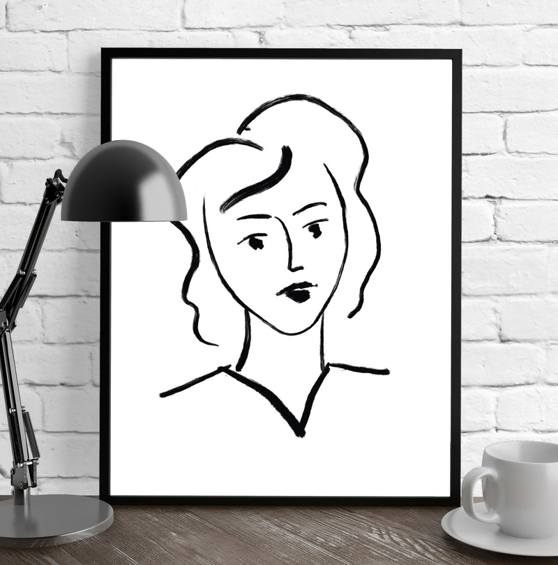 BOSS LADY Framed Giclee Print by Terri Ellis