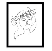 SHE WEARS FLOWERS TWO  Framed Giclee Print by Terri Ellis