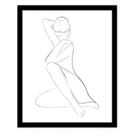 SHE WONDERS  Framed Giclee Print by Terri Ellis