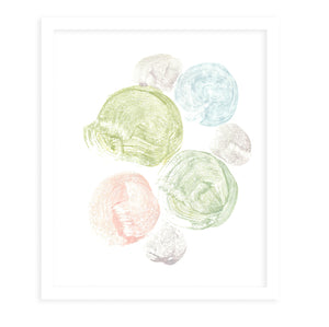 PASTEL CIRCLES Framed Giclee Print by Becky Bailey