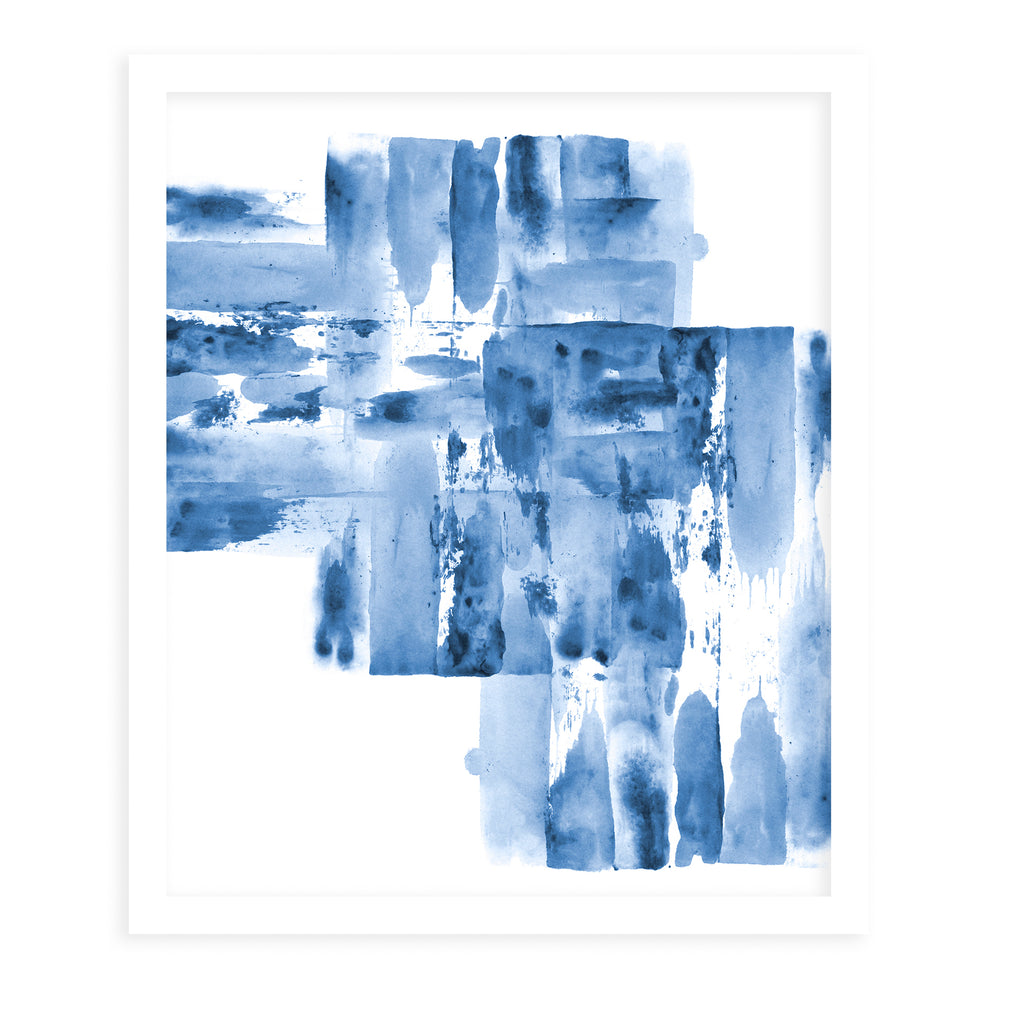 WATERCOLOR BLUE Framed Giclee Print by Danushka Abeygoda